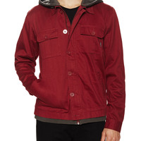 Tavik Men's Droogs Hooded Military Style Jacket - Red -