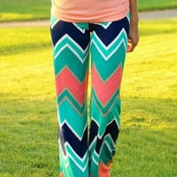 Zigzag Print Loose Pants