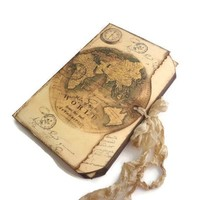 Compass Travel Journal - Maps Travel Log - Destination Wedding Guest Book
