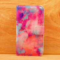 Evening glow abstract Painting  purpse Cover case Wallet For Iphone 4/4s/5