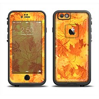 The Abstract Fall Leaves Skin Set for the Apple iPhone 6 LifeProof Fre Case