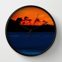 Frozen Glow Wall Clock by Beach Bum Pics