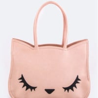 Pretty Pink Kitty Tote Bag