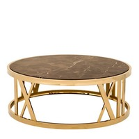 Gold Roman Numeral Coffee Table | Eichholtz Baccarat