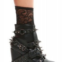 109 STUDDED WEDGE BOOTIE - Abbey Dawn Clothing