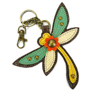 Chala Faux-Leather Key fob - (Dragonfly)