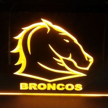 sp12 Brisbane Broncos beer bar pub club 3d signs LED Neon Light Sign man cave