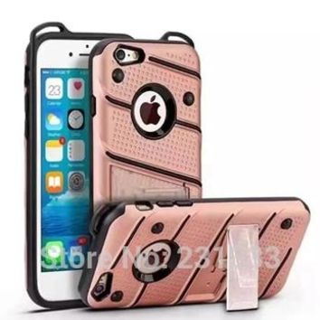 For Samsung Galaxy J7 J5 Prime Iphone 7 7Plus 6 6S Plus SE 5 5S Armor Hard PC TPU Case Stand Shockproof Cover Phone Luxury 10pcs
