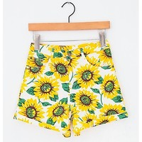 Sunflower high waist denim shorts