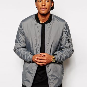 ASOS Bomber Jacket With Curved Hem