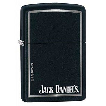 Jack Daniel'S Black Matte Zippo Outdoor Indoor Windproof Lighter Free Custom Personalized Engraved Message Permanent Lifetime Engraving on Backside