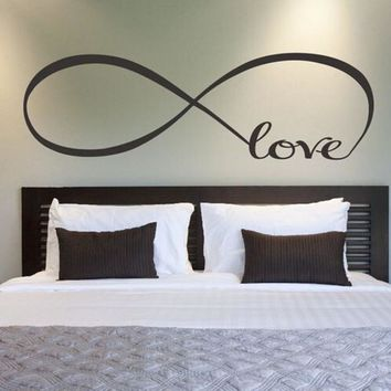 22*60CM 44*120CM Bedroom Wall Stickers Decor Infinity Symbol Word Love Vinyl Art wall sticker decals decoration