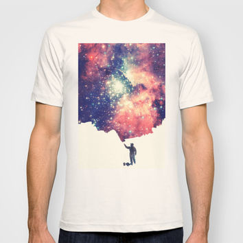 Painting the universe T-shirt by Badbugs_art