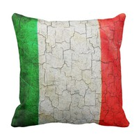 Cracked Italy flag Cushion