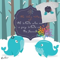 The story of the whale who met a gay whale in the forest on Threadless