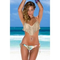 Luli Fama Swimwear 2014 'Bonita Fringe' Push Up | The Orchid Boutique