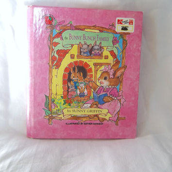 Vintage Childrens Book The Bunny Bunch Family