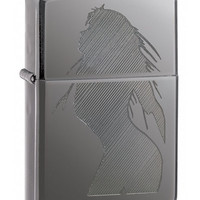 Zippo Black Ice Lighter Women Outline
