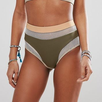 Jaded Mesh Bikini at asos.com