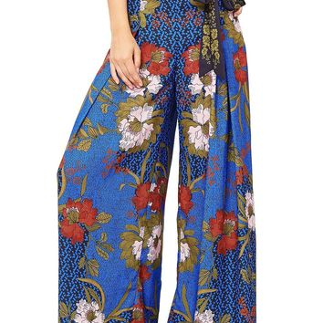 Midnight Bloom Palazzo Pants