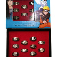 Naruto Ninja Anime Ring Set