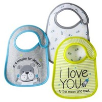 Just One You™Made by Carter's® Newborn Boys' 3 Pack Space Rocket Bibs - Green/Grey