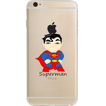 Superman Jelly Clear Case for Apple iPhone 7 PLUS