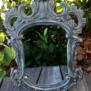 Shabby Chic Mirrors, Baroque Mirror, Patina Green Ornate Mirror, Ornate Mirror Wall Mirror, Shabby Chic Mirror, French Paris Cottage Chic