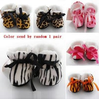 Baby Boy Girls Shoes Soft Sole  Kids Toddler Infant Boots Prewalker First Walkers 29 Colors