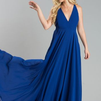 Talia Royal Blue Maxi Dress