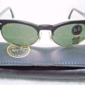 RAY-BAN *NOS VINTAGE B&L CLUBMASTER-WAYFARER Oval MAX W1266 *NEWinBOX SUNGLASSES