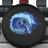 "32-33"" Premium Jeep Tire Cover - Surfer Design - Fits Jeep Wrangler JK"