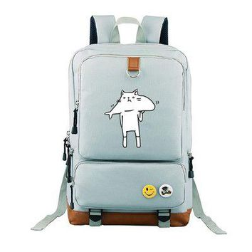 Anime Backpack School kawaii cute Neko Atsume COSPLAY Casual fashion male and female students schoolbag travel backpack AT_60_4