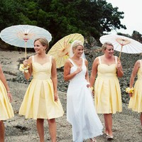 Wedding Ideas / yellow bridesmaid dresses