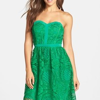 Women's Adelyn Rae Embroidered Lace Fit & Flare Dress