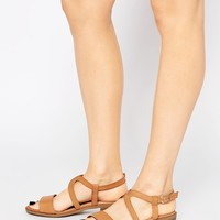 New Look Wide Fit Strappy Flat Sandal at asos.com