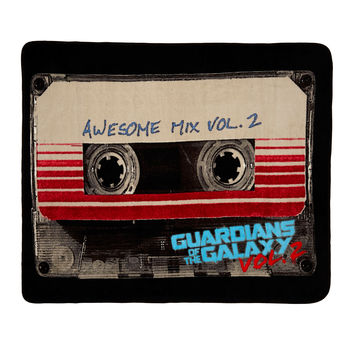 Marvel Guardians Of The Galaxy Awesome Mix Vol. 2 Cassette Throw Blanket