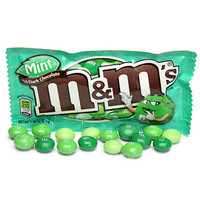 Dark Chocolate Mint M&M's Candy Packs: 24-Piece Box