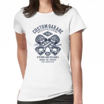 'MOTORCYCLE GARAGE' T-Shirt by Super3
