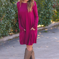 Make It Happen Dress - fuchsia