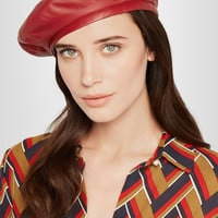 Gucci - Leather beret