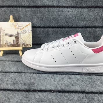 Adidas Originals Stan Smith Shoes Junior Version Of Sneakers White / Pink