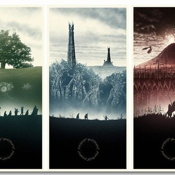 Custom Canvas Wall Paintings The Lord Of The Rings Poster The Lord Of The Rings Wall Papers Dining Room Wall Stickers Art #0360#