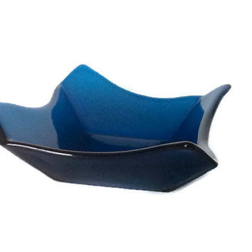 Blue Glass Bowl - Decorative Glass Bowl