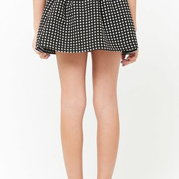Girls Polka Dot Box Pleat Skirt (Kids)