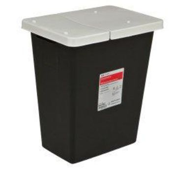 Covidien RCRA Waste Container Vertical Entry Sliding Lid Free Standing Plastic