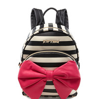 Betsey Johnson Bow Tails Striped Backpack | Dillards