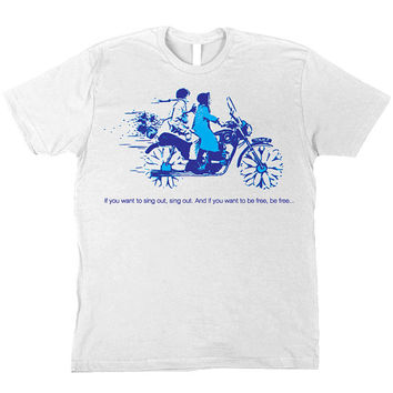 Harold & Maude Cult Classic Black Comedy w/ Cat Stevens lyrics White T-Shirt