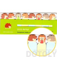 Porcupine Hedgehog Shaped Memo Pad Post-it Index Tabs | Animal Themed Stationery