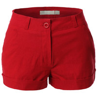 Womens Lightweight Basic Summer Shorts with Pockets